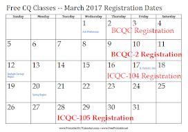 Class Registration Calendar