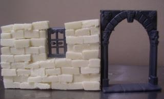 Warp lib modelisme construire une maison medievale partie 1 les murs en pierre - Monter un mur en brique ...