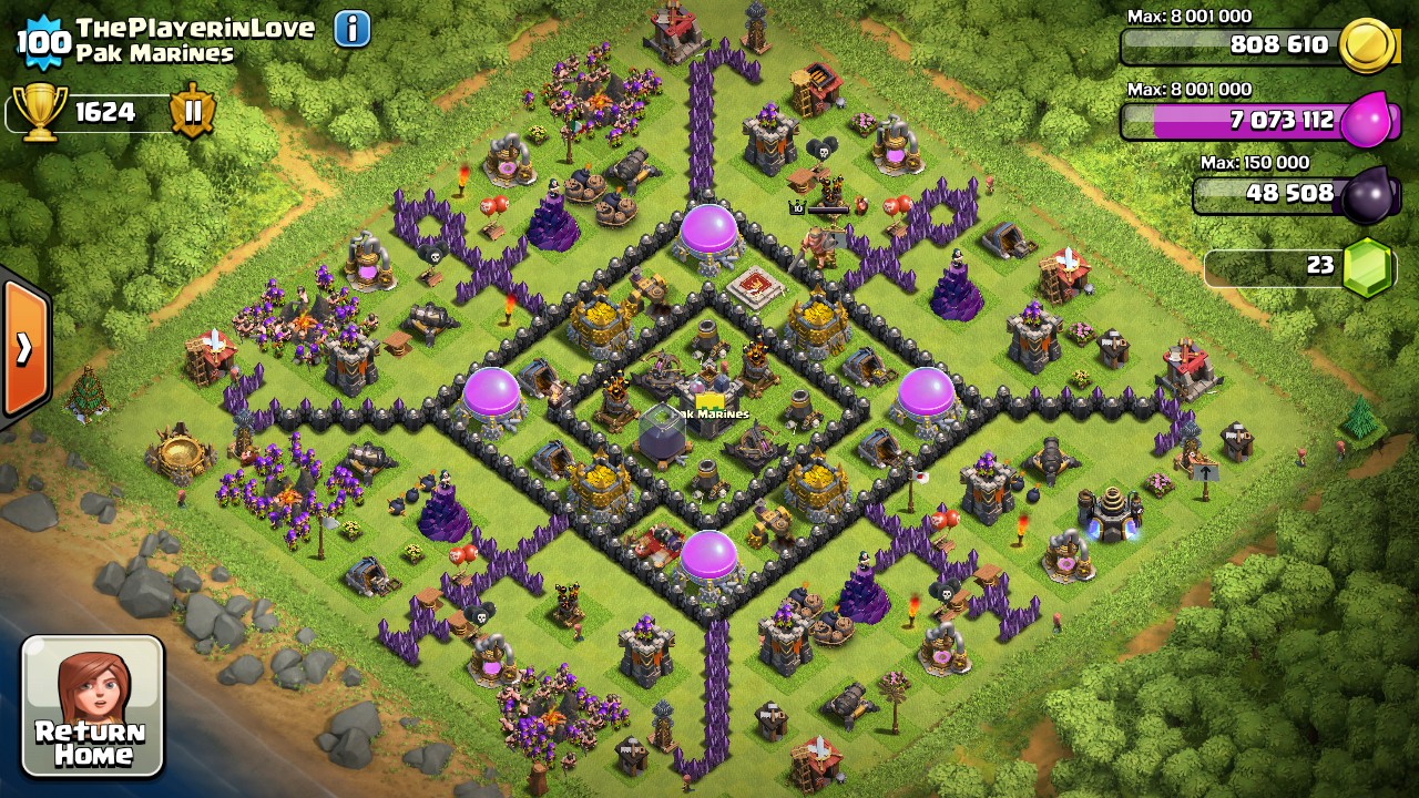 Clash of Clans : Town Hall level 9 Anti hogs/ Anti giants and Anti