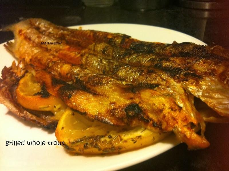 喵厨记: 烤全鳟鱼 Grilled Whole Trout