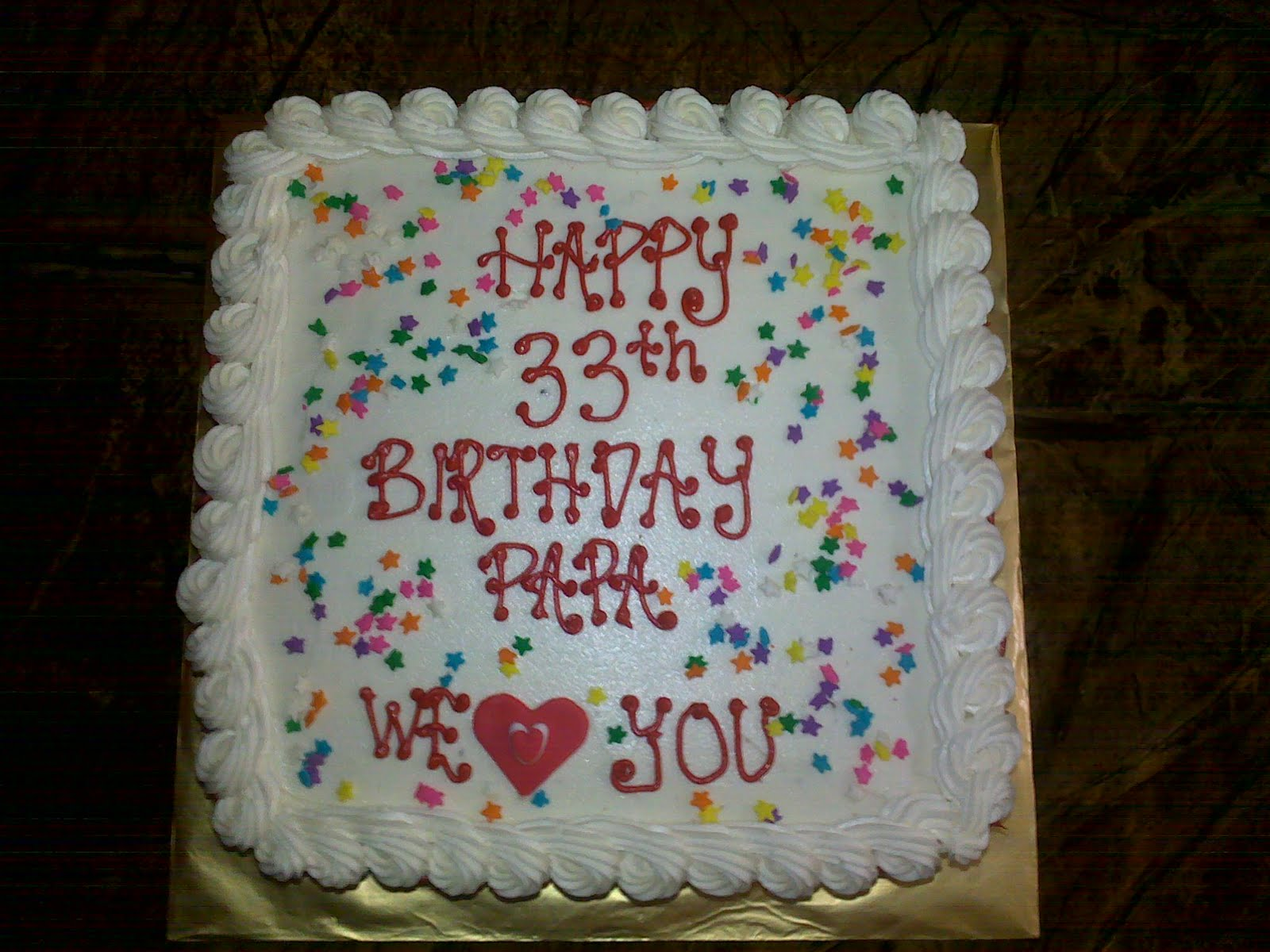 Mybabydeco Birthday Cake For Husband