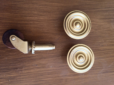 spray painted gold hardware