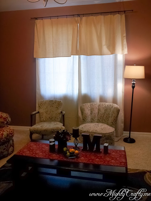 Easy Drop-Cloth Curtains -- www.MightyCrafty.me