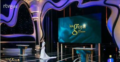 Escenario de los Premios Goya de Cine 2013