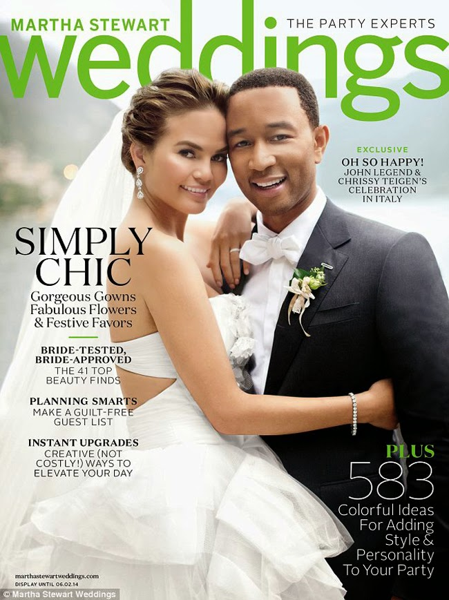 Chrissy Teigen & John Legend Photos from Martha Stewart's Weddings March 2014 HQ Pictures