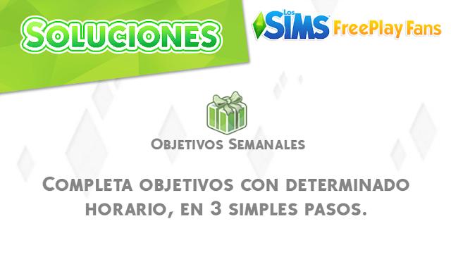 Los Sims FreePlay Fan: SOLUCIONES: Completar objetivo semanal con ...
