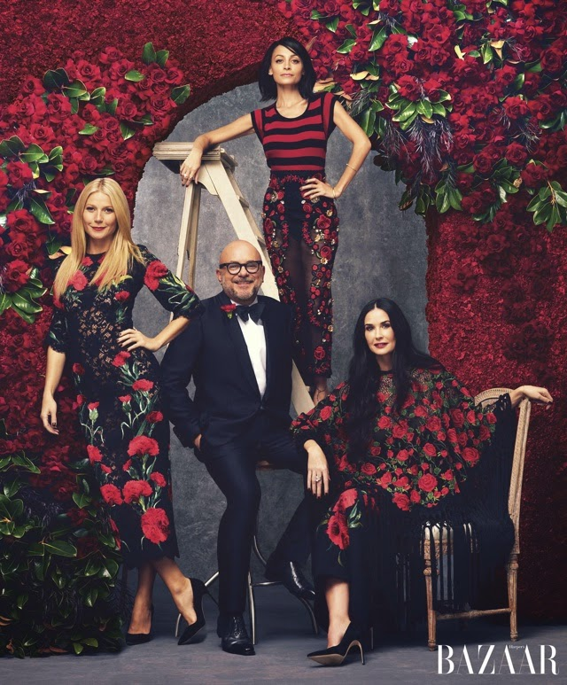 Actress, Singer: Gwyneth Paltrow, Demi & Nicole Team for Harper's Bazaar