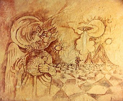 Hombre de Marte en la cueva de Fergana