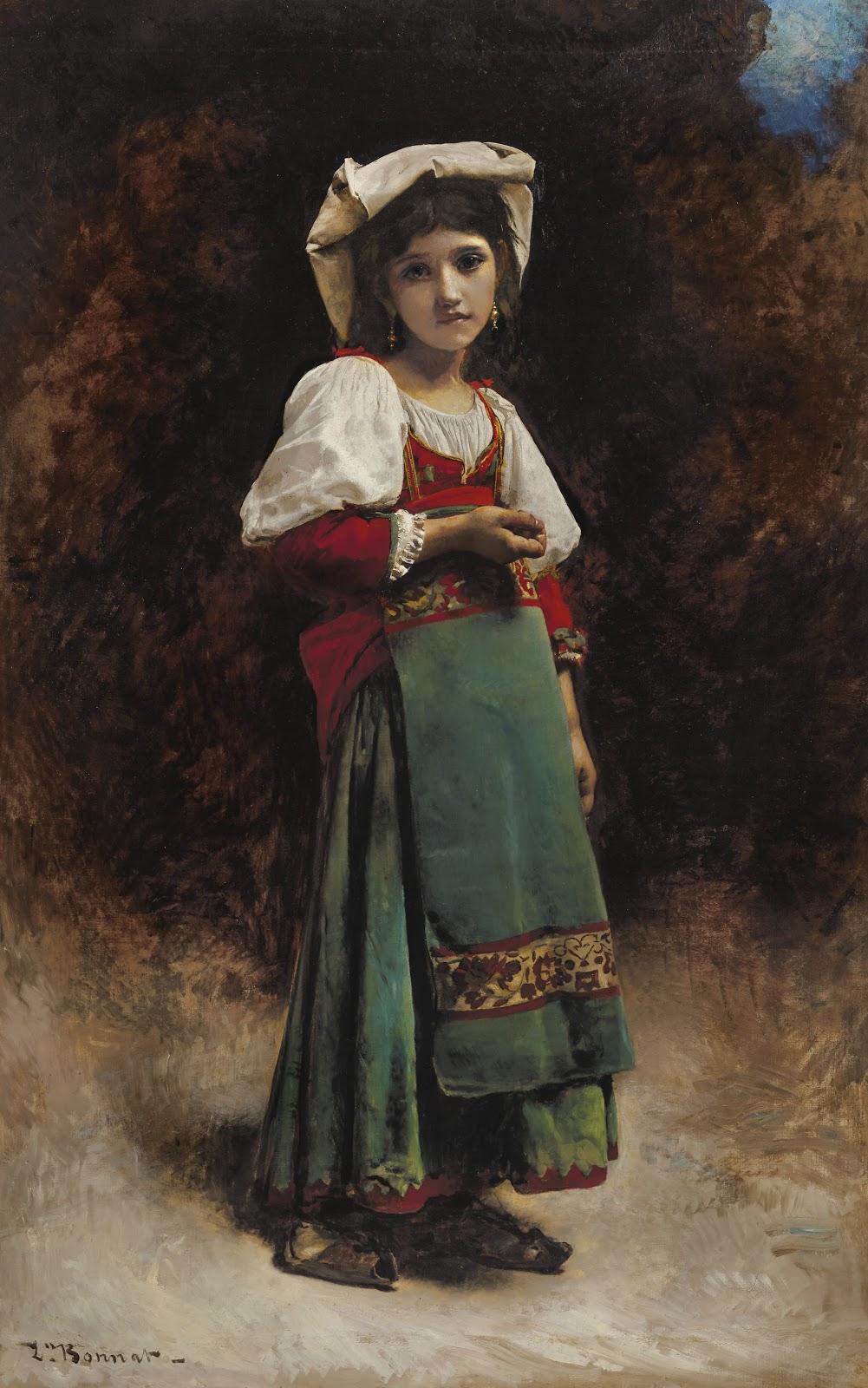 Leon  onnat Portrait d une jeune