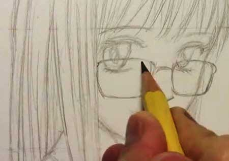 How to draw eye glasses manga video lessons of drawing painting how to draw eye glasses manga ccuart Gallery