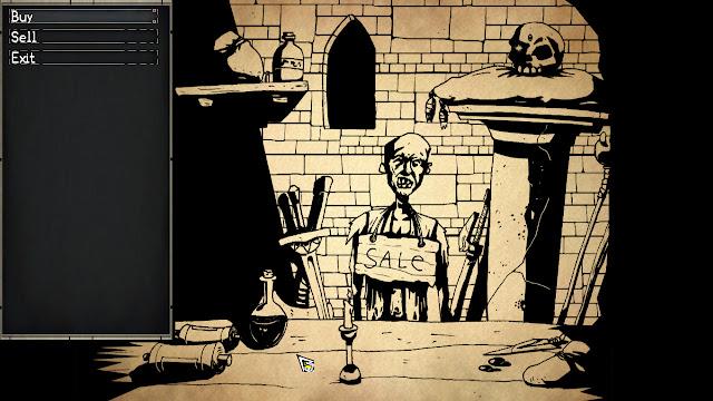 Paper Sorcerer shop zombie screenshot