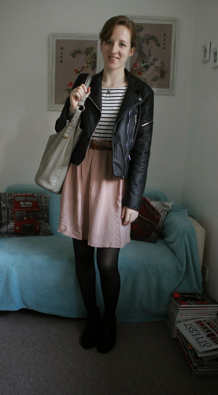 OOTD Breton Top and Pink Skirt