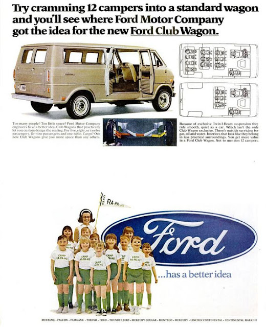 Magazine ad for 1969 Ford Club Wagon