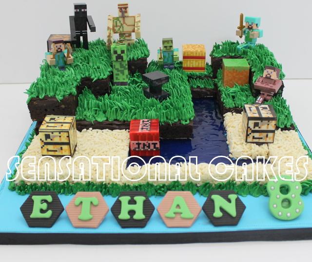 The Sensational Cakes Minecraft Cream Version 3d Cake Singapore