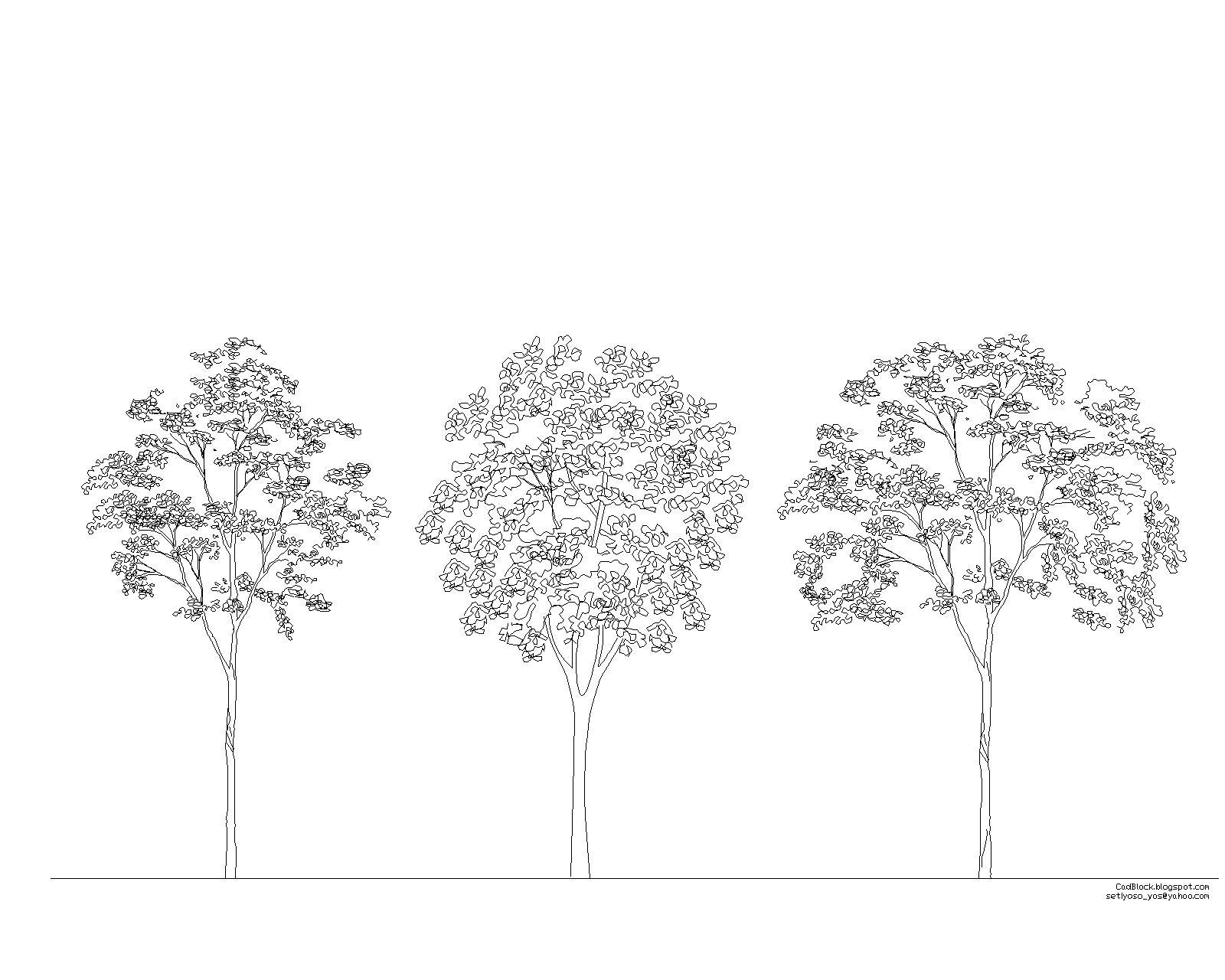 Engineering et architecture bloc arbre pour autocad dwg - Dessin dxf gratuit ...