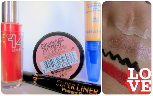 Maybelline L'Oreal and Rimmel Swatches