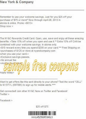 New york and company discount coupons