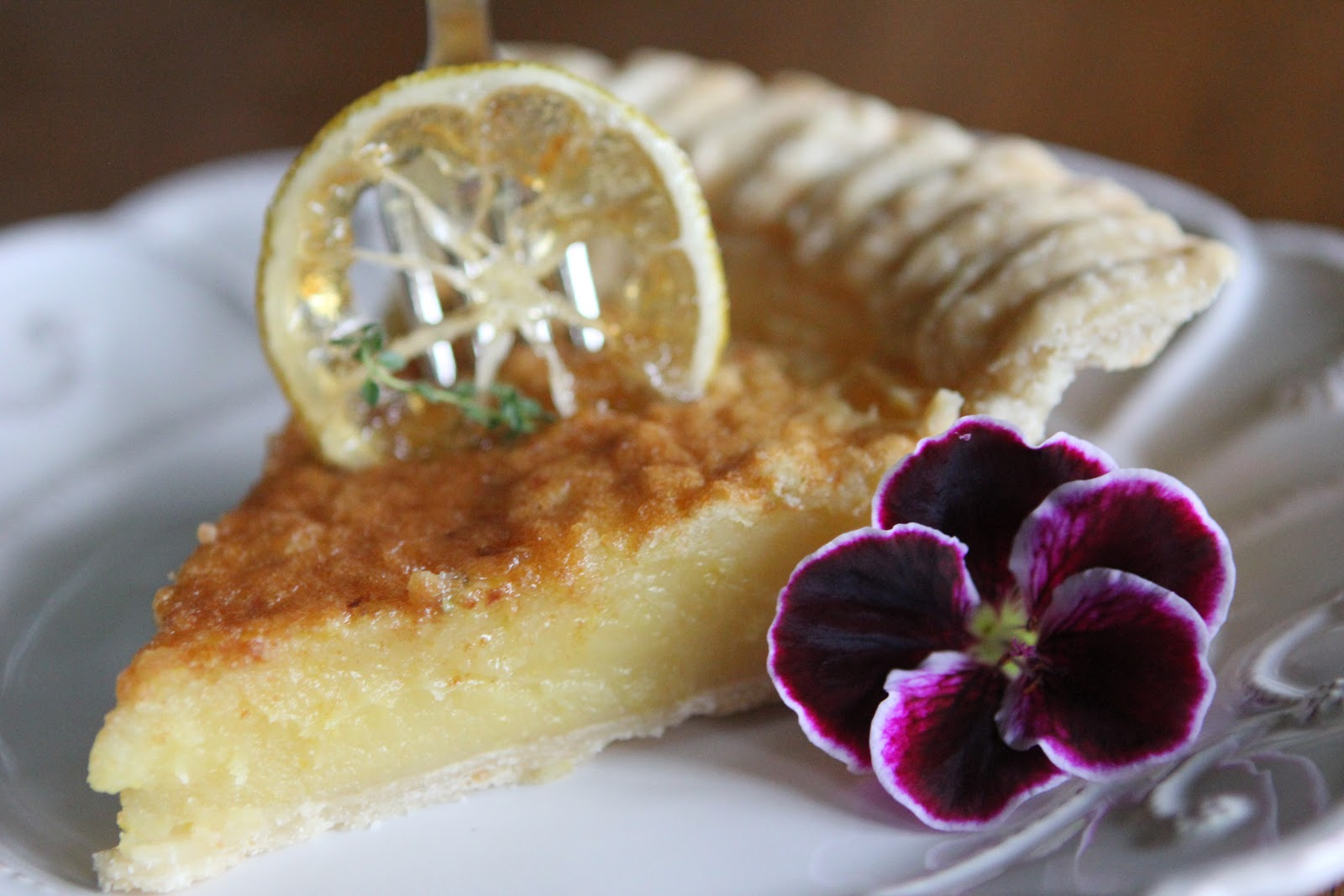 Romancing the Home: Lemon Chess Pie