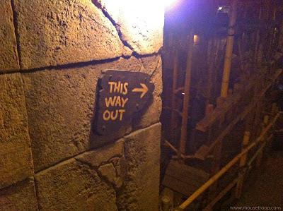 Indiana Jones Adventure Disneyland Temple exit path tunnel