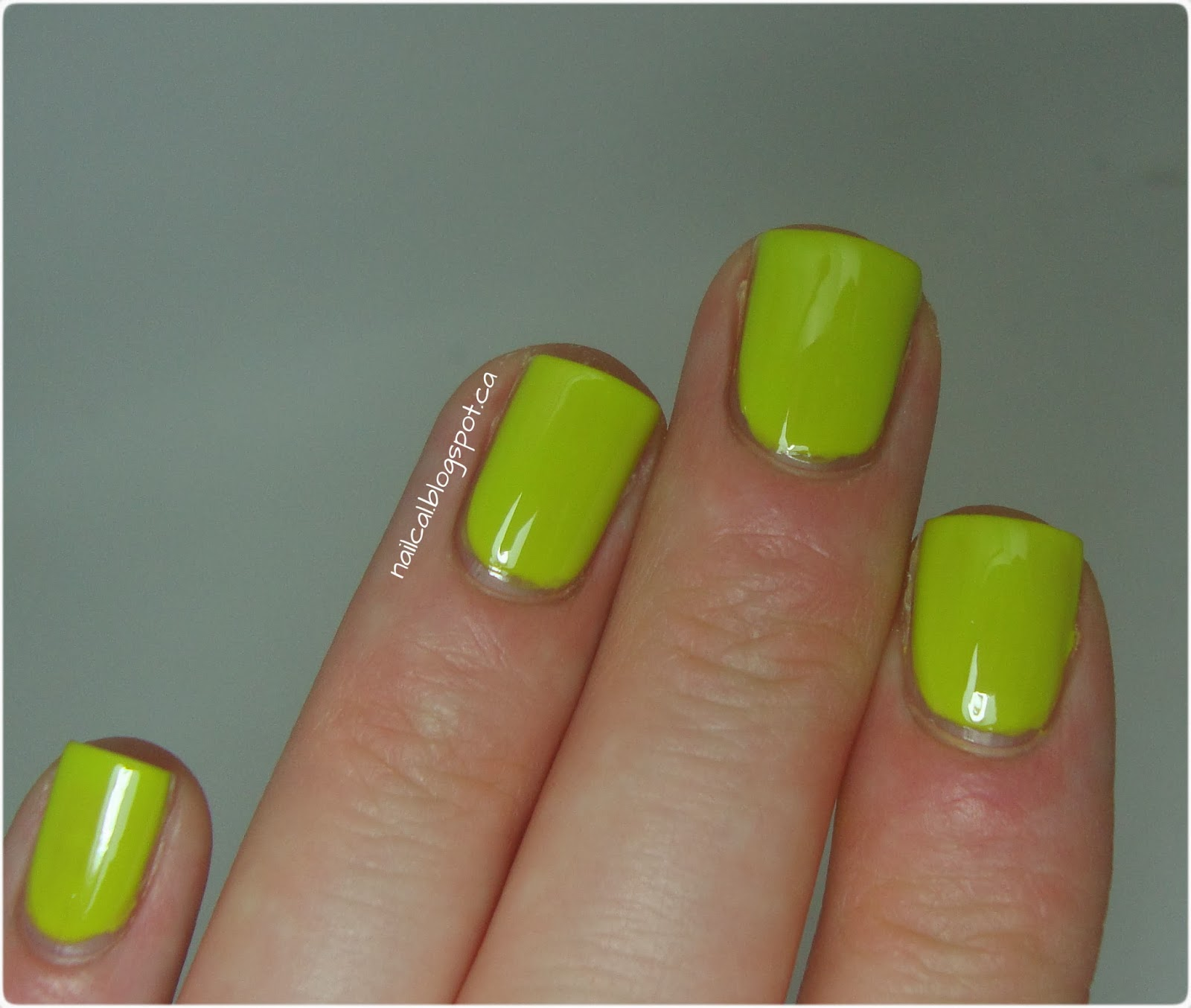 OPI Stand in Lime For Days Swatch 2
