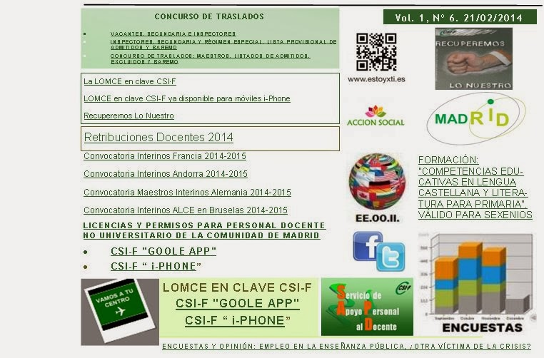 Noticias csif ense anza madrid 2014 for Csif ensenanza exterior