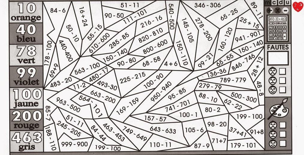 Coloriage magique ce2 multiplication search results - Coloriage magique ce2 addition ...