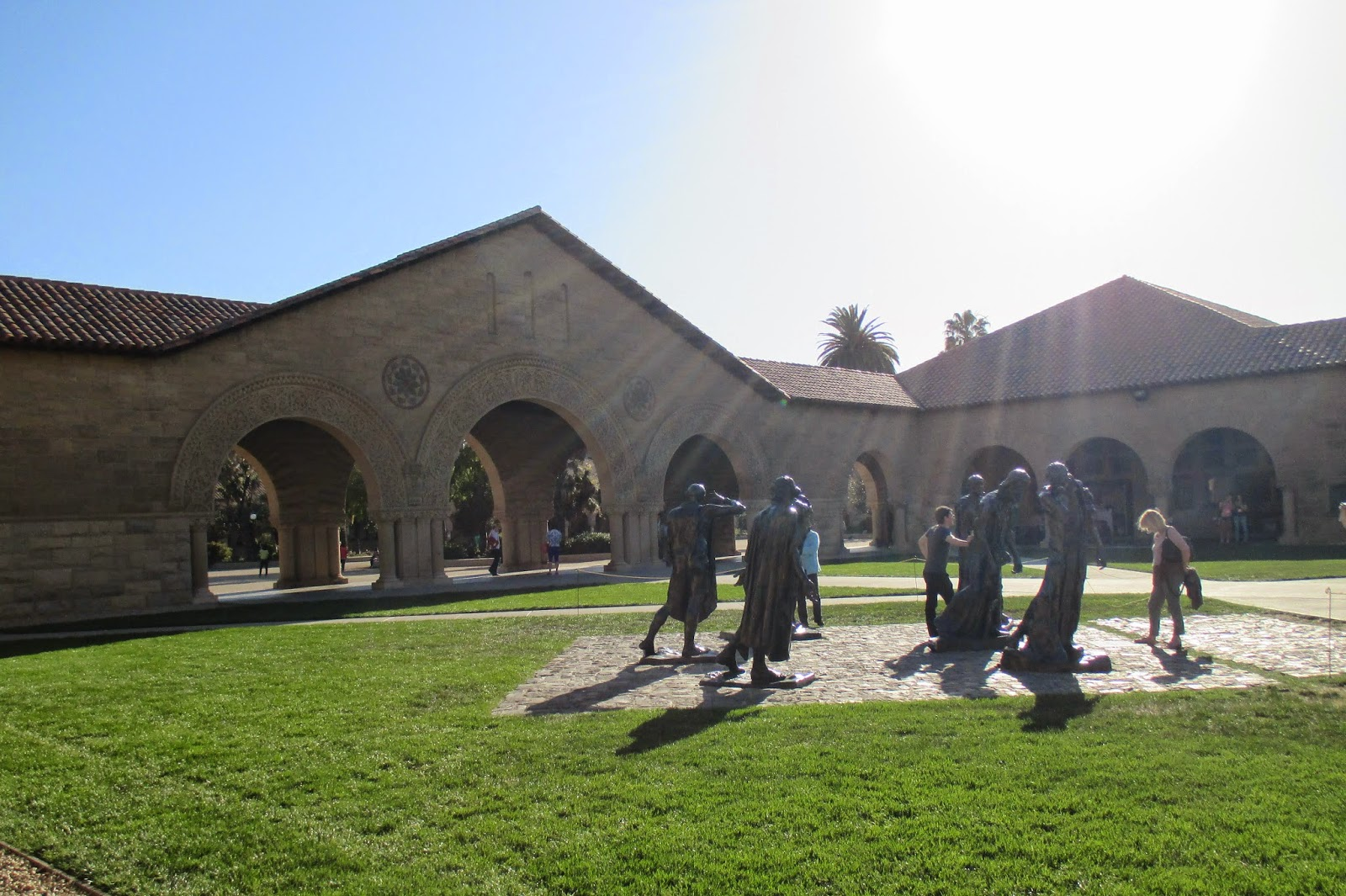 Stanford University Rodin Statues