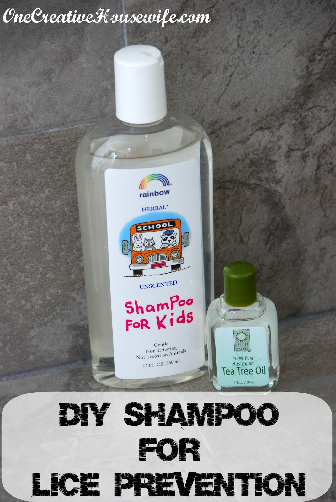 DIY Tea Tree Oil Shampoo - Lice Prevention