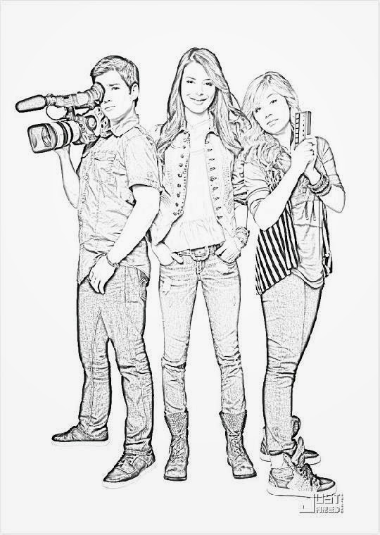 iCarly Coloring Sheets