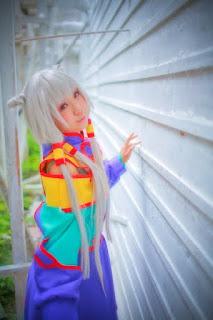 Kousaka Yun cosplay as 天子 from Code Geass