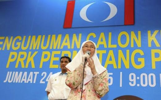 Wan Azizah Calon PKR Permatang Pauh