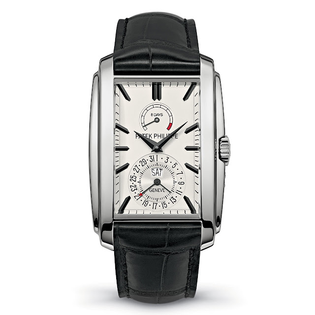 Patek Philippe Réf. 5200 Gondolo 8 Days, Day & Date Indication Watch silver