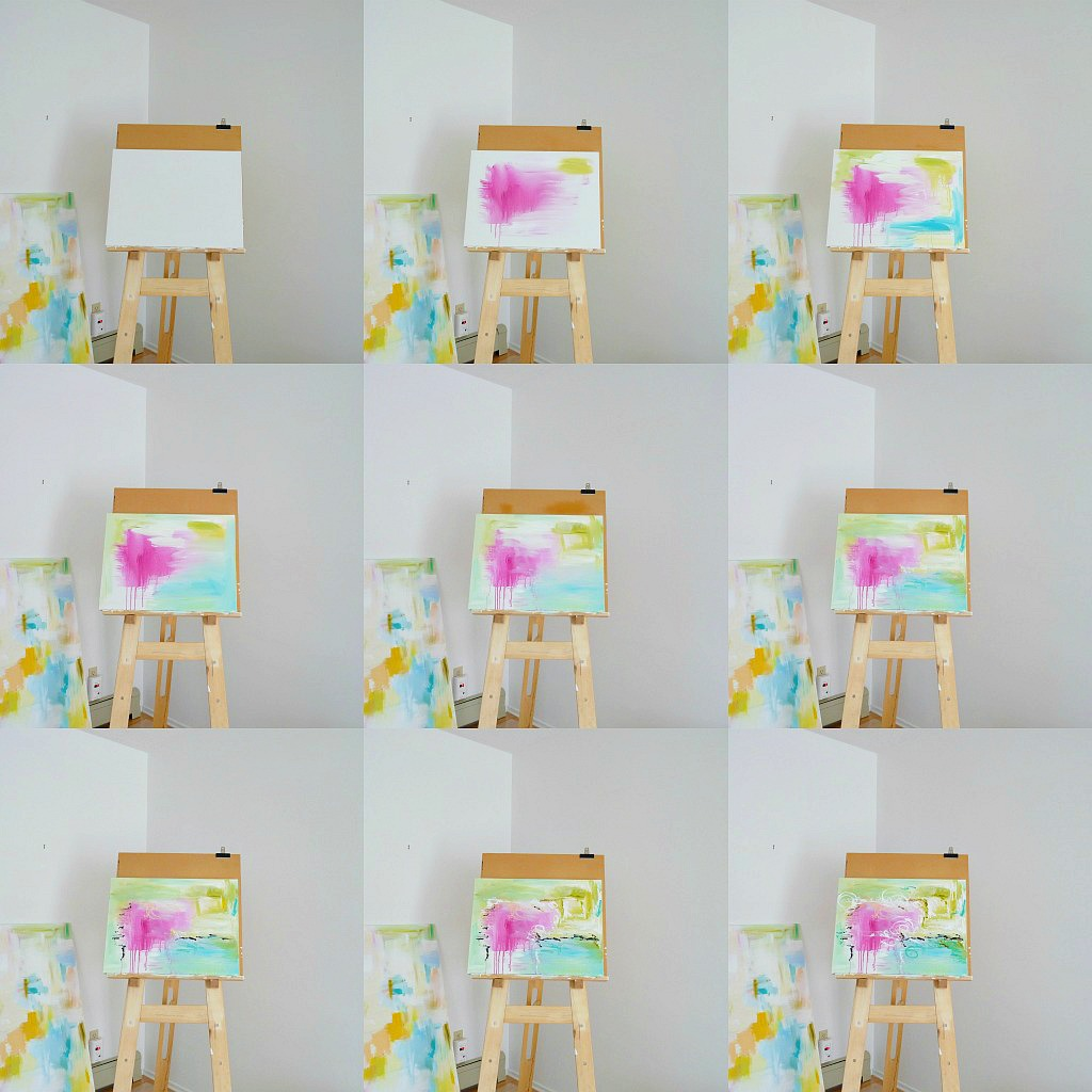 Step by step tutorial for DIY abstract