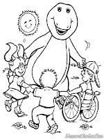 Barney Bermain Dengan Anak Anak