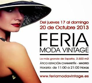 Feria de la Moda Vintage, Chamartín Octubre 2013