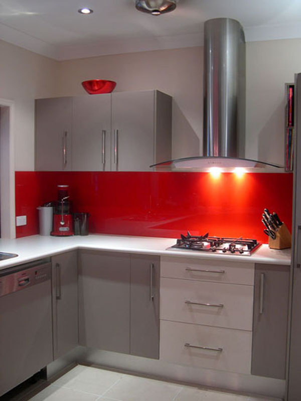 Red Kitchen Splashback The Kitchen Design - Grey and red kitchen ideas