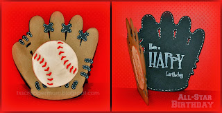 Baseball Shape Card