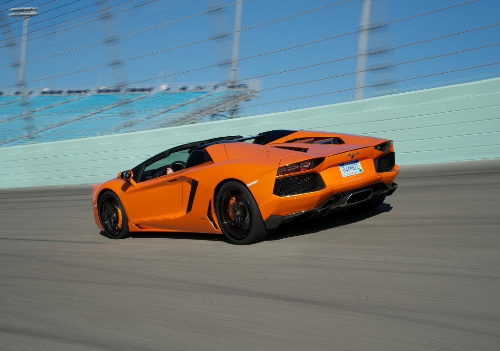 ... : Car Wallp... Lamborghini Aventador Orange