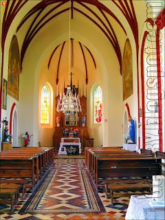 Ивенец. Костел святого Михаила Архангела. Внутреннее убранство костела