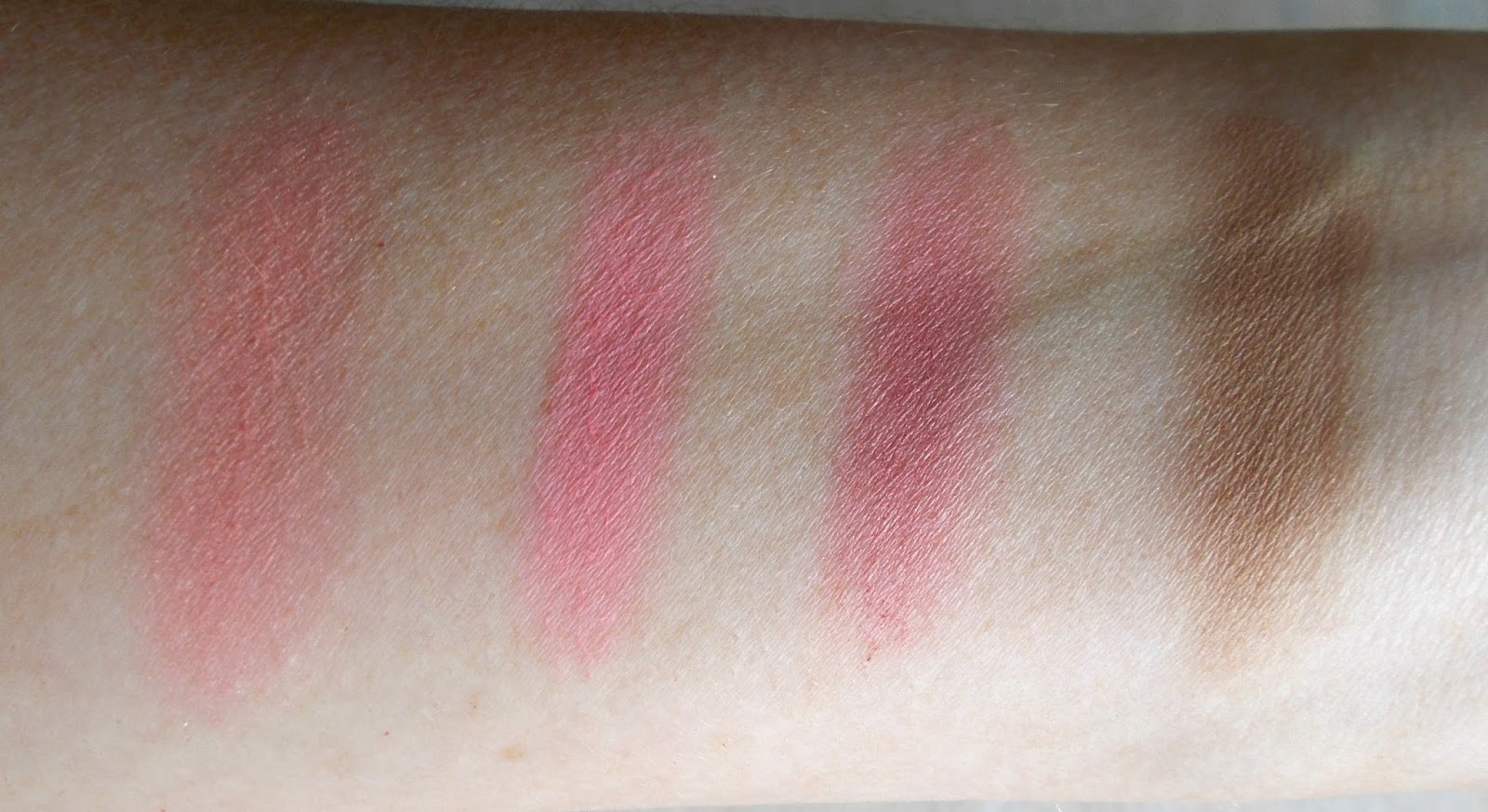 In the Balm of your Hand blush swatches