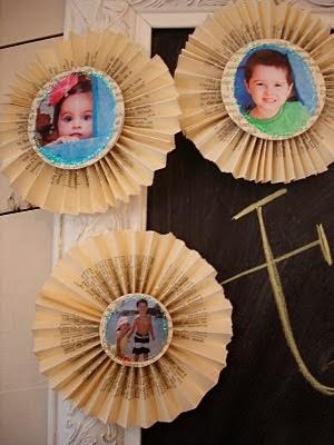 Coronas de papel reciclado para navidad en Recicla Inventa