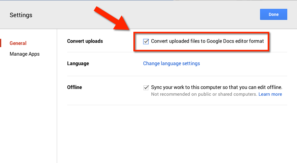 how to upload word doc to google drive