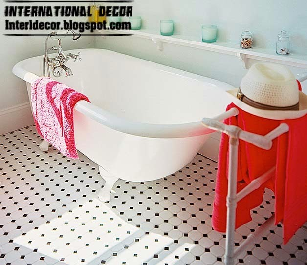 Black And White Floor Tiles For Bathroom Bathroom Floor Tiles