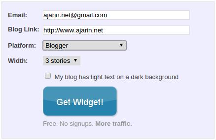 Mengisi form pada LinkWithin