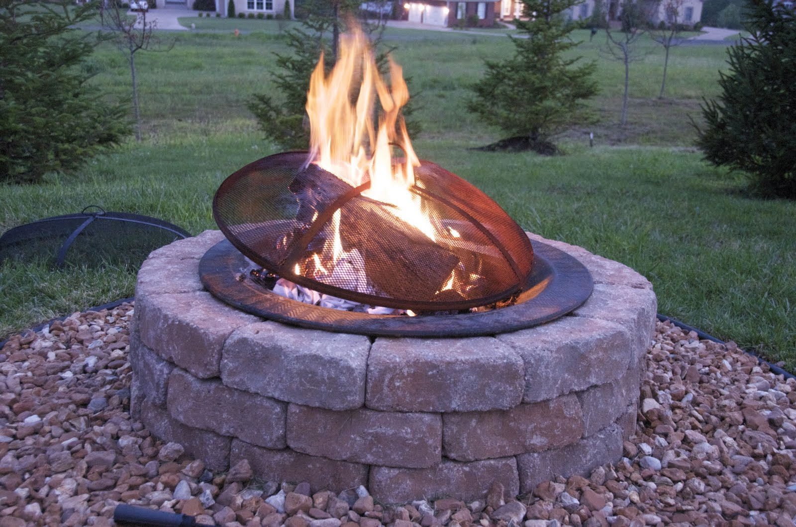 how to build an outdoor firepit the polkadot chair