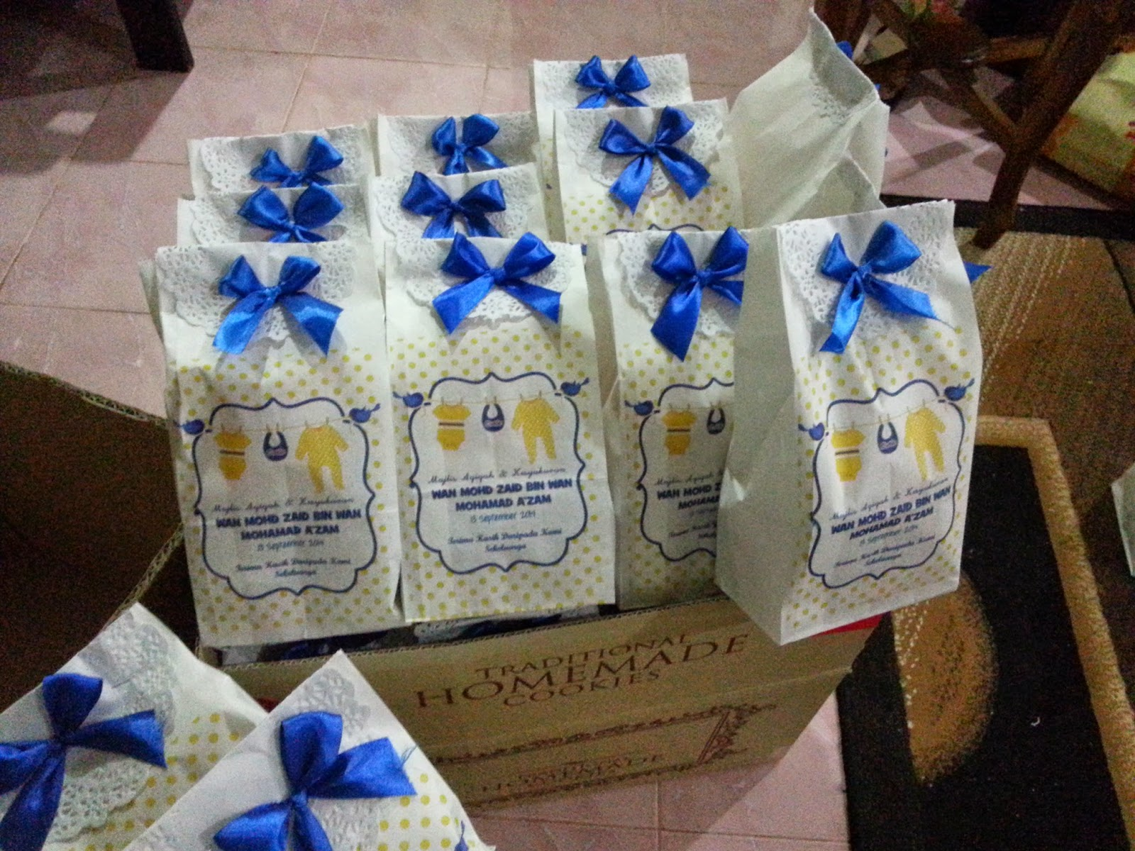 white paper bag doorgift tempahan 450 set