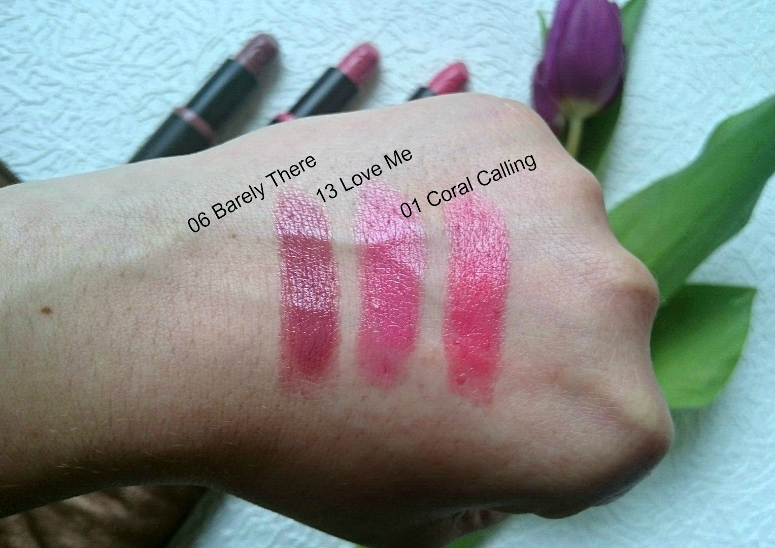 Essence lipsticks swatches