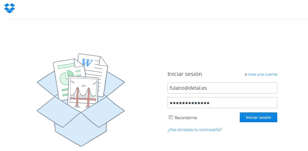 Iniciar sesión en Dropbox