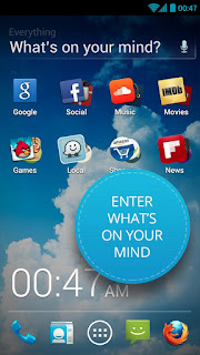 Whats on your mind : everything.me android launcher