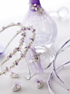 wedding set with white and lavender theme